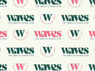 Waves Branding Assets – Concept 1 florida state typography vacation spa georgia southern golf club surfing florida beach restaurant golf resort island surf waves