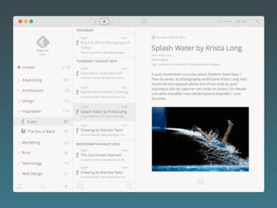 Reeder Yosemite redesign reeder minimal simplicity simple clean ui yosemite