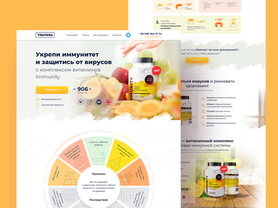 Vitaminko pills product vitamin collaborate avis tilda figma web webdesign uidesign ux ui interface