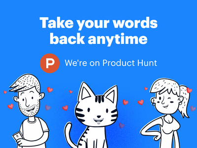 Palindrome · Product Hunt Pre-Launch 🎉 service design funnyday illustration character release characters palindrome product hunt figma web webdesign uidesign ux ui interface