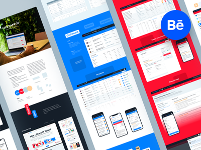 Big case study • UpStaff platform it experts staff tetric adobexd employee team share hire branding dashboard uidesign design webdesign web ux ui interface