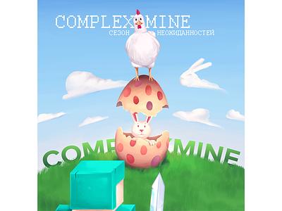 ComplexMine summer illustration art avatar rabbit complexmine minecraft