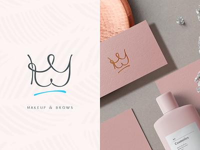 Makeup logo. K+Y 👑 graphicdesign logos identity illustraion brands logo logotype branding makeup