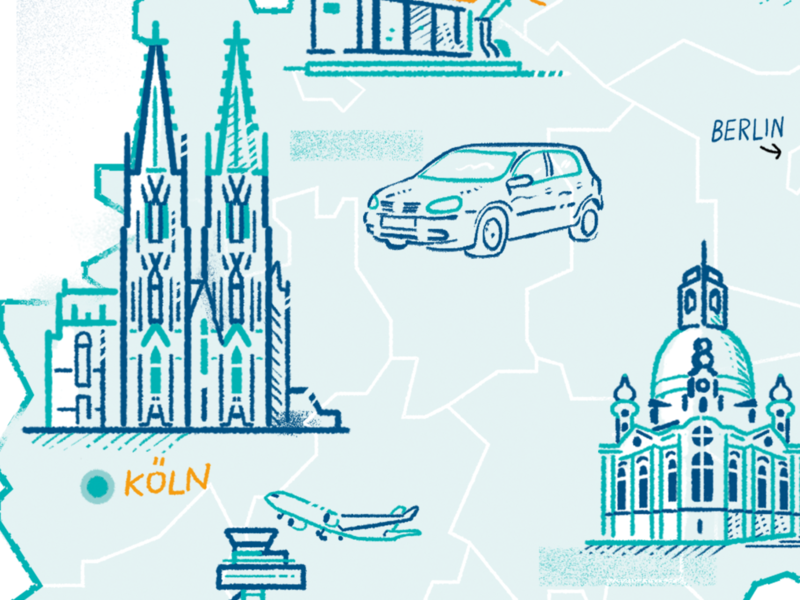 Dome of Cologne lineart clean simple germany berlin cologne landmark