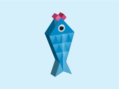 Low Poly Fish augmented reality vector 3d lowpoly fish