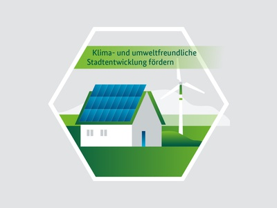 Illustrations for Smart Governance simple clean yellowtoo ecology eco enviroment fields vector tiny house windmill