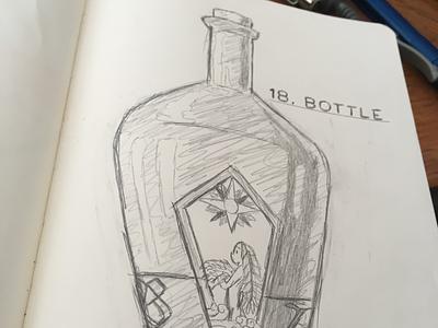 _InktoberBottle kingwonder anime seven deadly sins vanya ale drink ale doodle drawing illustration bottle