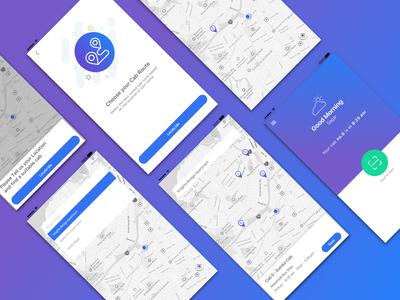 Transportation App Screens