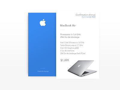 DailyUI #017 - Email Receipt design receipt email