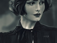Digital Painting White and Black
