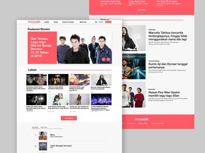 Music Magazine Homepage - Music Blog
