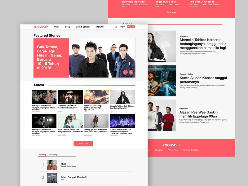 Music Magazine Homepage - Music Blog by Rifqi Dimas on Dribbble