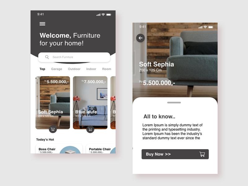 Furniture App creative ui design ui ux furniture home page design home page design ux ui