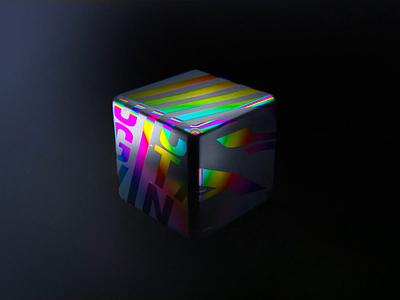Iridescent 3d cube b3d shader blender eevee iridescence iridescent holographic holographic foil cube render animation 3d