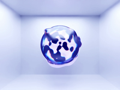 Moicon AI digital twin factory digital twin water glass blob jelly sphere art motion animation illustration branding research generativedesign c4d blender 3d ai graphic design graphic