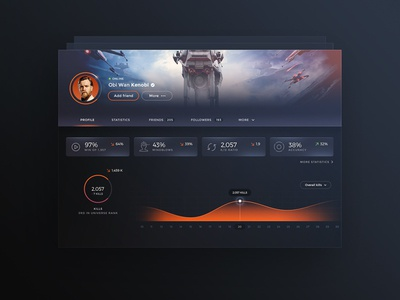 Profile Dashboard Statistics