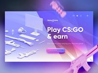 3d CSGO landing page
