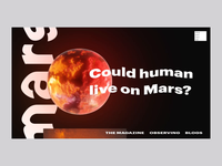 Could human live on Mars?