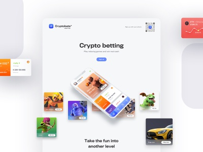 Cryptobets gaming payments gradients bitcoin buy wallet ether finance 3d ui iphone material design light web design branding gamification game mobile cryptocurrency crypto