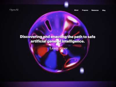 The future is now, old man branding marketing course programming webgl blender fluid futuristic sphere dark premium animated landing page data visualization smooth web design 3d virtual reality artificial intelligence clean design motion