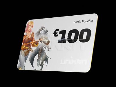 Credit Voucher Card in 3d voucher bank render blender banking card animation credit card 3d