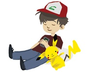 Ash ketchum & Pikachu