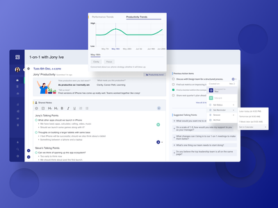 1-on-1 Dashboard: For building Communication and Transparency ui saas communication manager figma employee engagement design dashboard ui dashboard design dashboard cards card design card