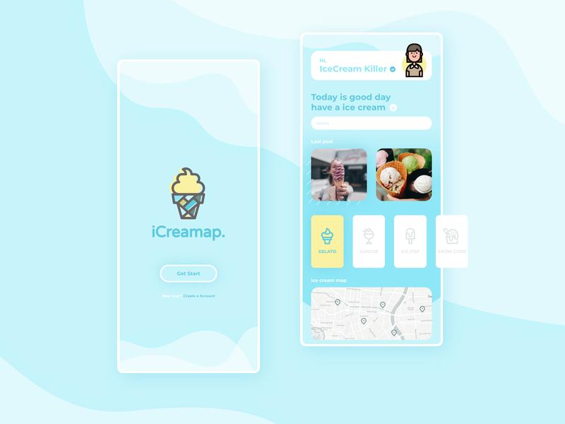 iCreamap App UI