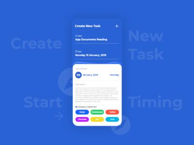 Create New Task task add