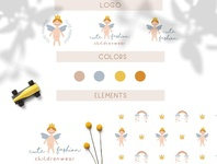Bohemian logo and pattern for children