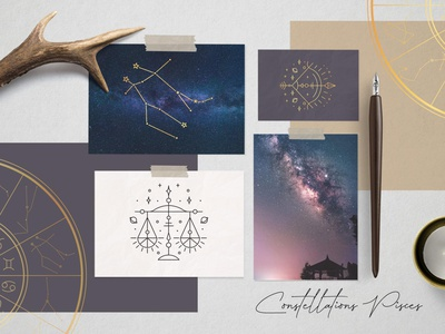 Zodiac Signs and Constellations zodiac pisces esoteric designs astrology horoscope zodiac constellations zodiac sign illustration vector template minimal hand drawn