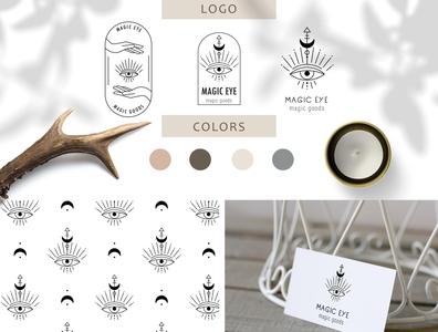 Magic logo magic good zodiac sign mystery magic logo astrology design web logo branding icon illustration vector template minimal hand drawn