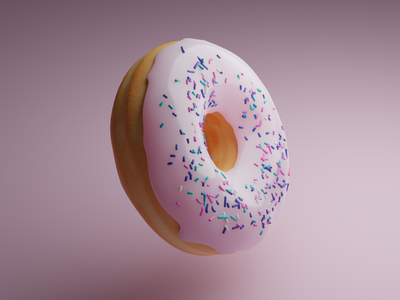 Donut design webdesign ui minimal illustration 3d