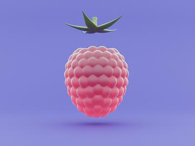 Raspberry web design ux 3d веб-дизайн webdesign ui minimal illustration