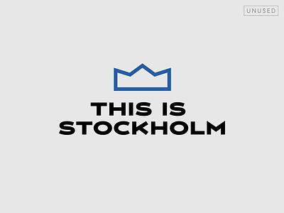 This is Stockholm logo (proposal) crown logo design type typography design vector logotype logo