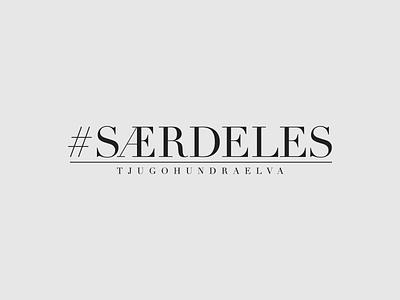 Særdeles logo hashtag fashion type typography design vector logo design logotype logo