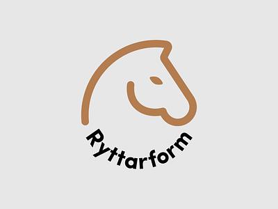 Ryttarform logo animal horse type typography vector logo design logotype logo
