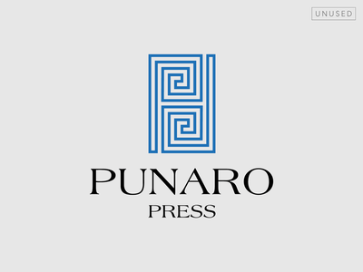 Punaro Press logo (proposal) type typography design vector logo design logotype logo