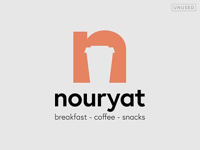 Nouryat logo (proposal) coffeeshop coffee cup coffee café type typography design vector logo design logotype logo