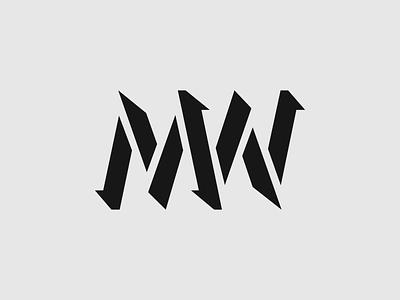 MW logo personal type typography design vector logo design logotype logo