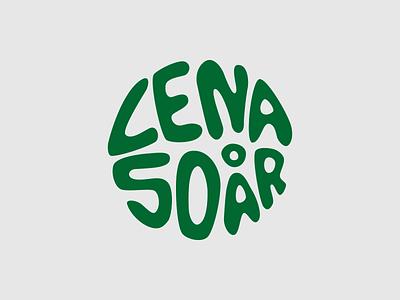 Lena 50 år logo birthday party party birthday type typography design vector logo design logotype logo