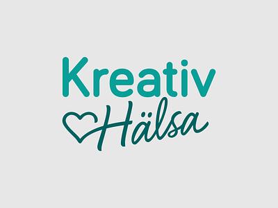 Kreativ Hälsa logo heart health script lettering hand lettering type typography design vector logo design logotype logo
