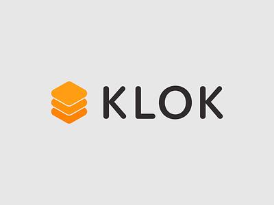 Klok logo system type typography design vector logo design logotype logo
