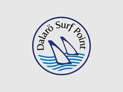 Dalarö Surf Point logo windsurfing surf sup illustration typography type design vector logo design logotype logo