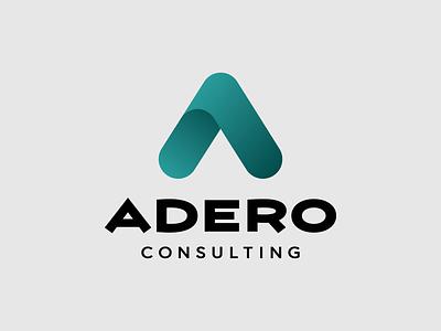Adero Consulting logo gradient consulting illustration type typography design vector logo design logotype logo