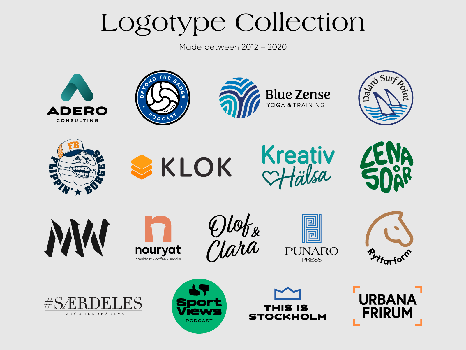 Logotype Collection 2012–2020