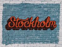Stockholm hand lettering