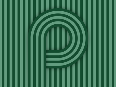 P – #36daysoftype design minimal type vector lettering typography