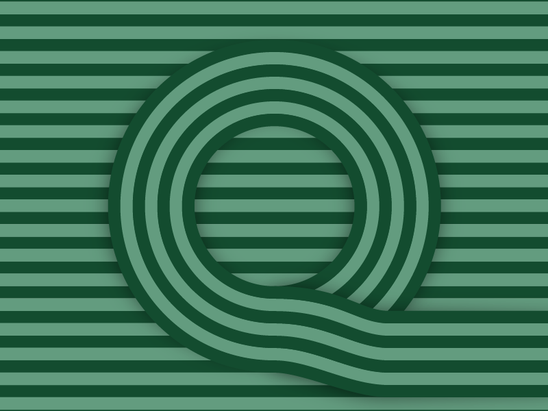 Q – #36daysoftype design minimal type vector lettering typography