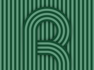 R – #36daysoftype design minimal type vector lettering typography